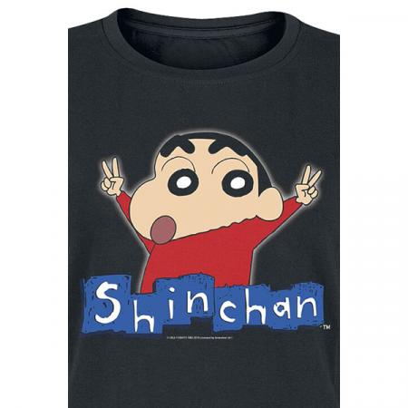 Camiseta adulto mujer Shin chan logo