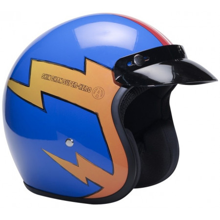Casco de moto de Shin Chan diseño Super Hero