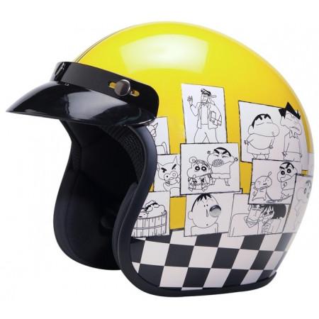 Casco de moto de Shin Chan diseño Cartoon